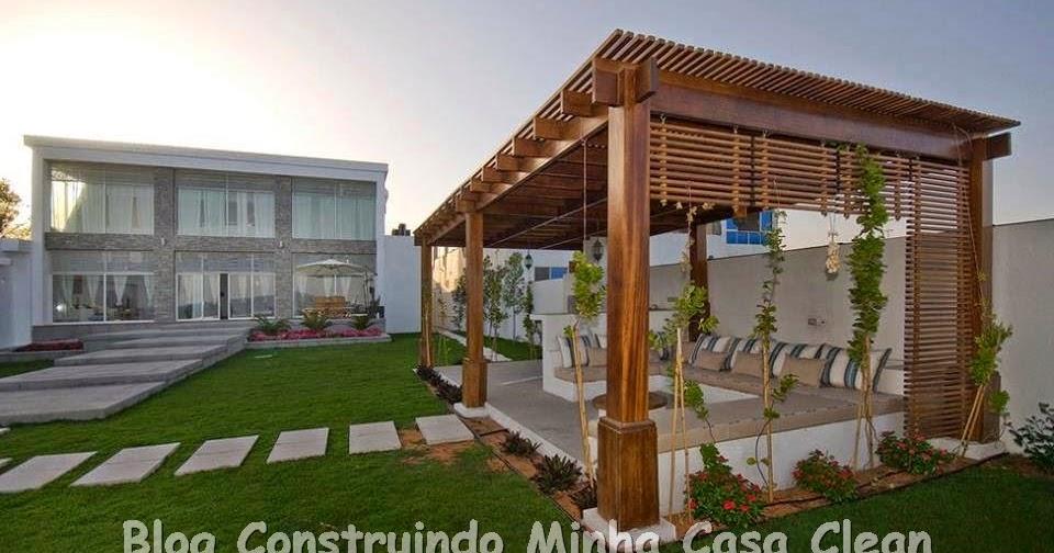 Construindo Minha Casa Clean Decora O De Varandas E