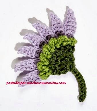 flores em croche com receitas e graficos em croche com receita