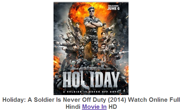 Watch Holiday (2014) Full Hindi Movie Free Download