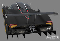 Pagani Zonda R GTR3 renders 4