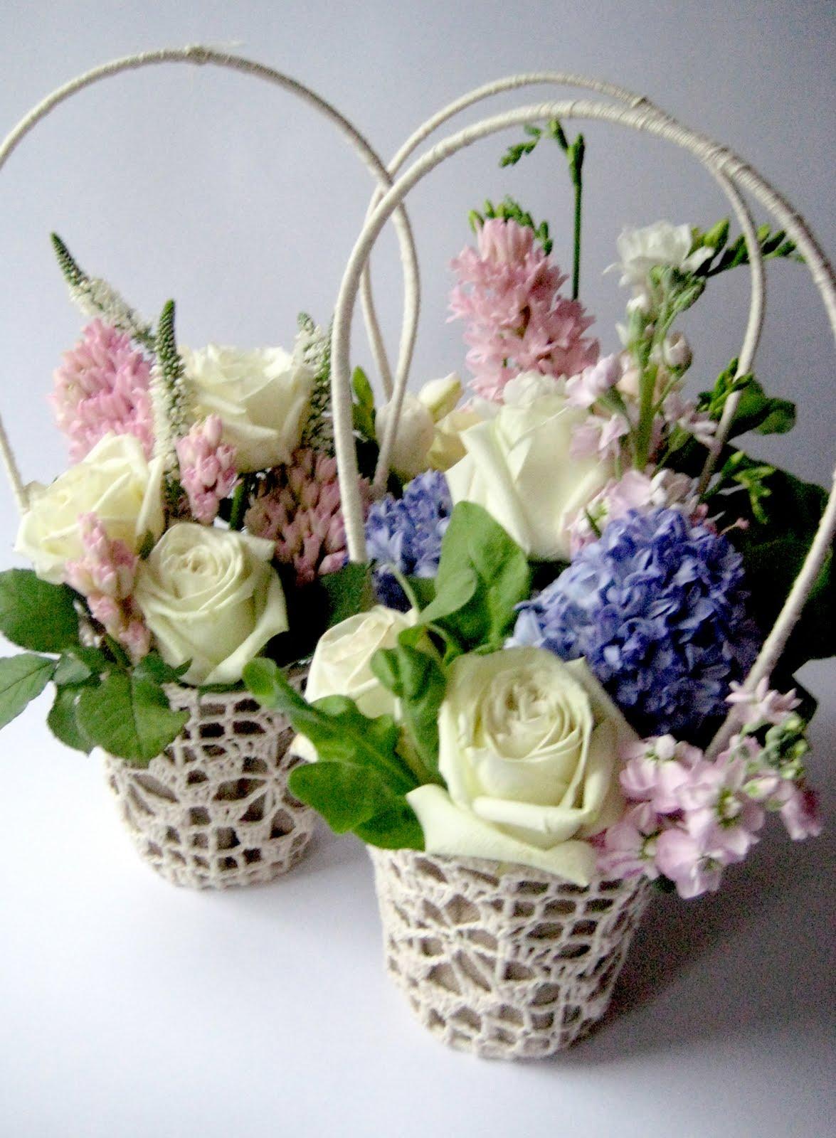 Корзинки с цветами фото