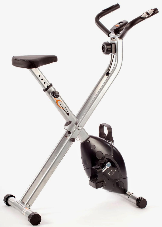 V-Fit MXC1 Folding - Bicicleta estática plegable con resistencia magnética