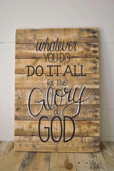1 Corinth. 10:31