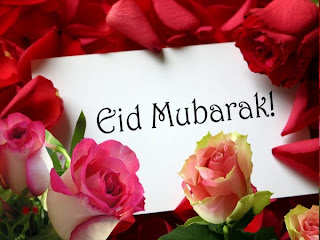 Eid Mubarak With Red Roses For Wonderful Backgrounds