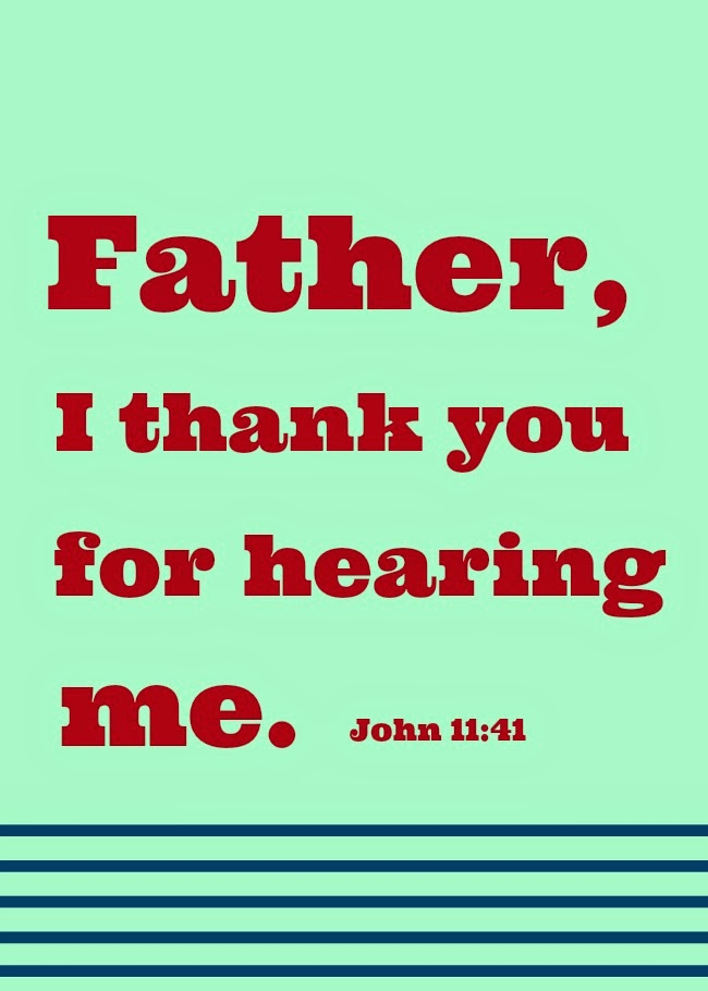 John 11:41; southern blogs; Christian bloggers; Lenten Devotionals;