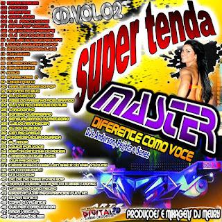 CD da MASTER VOL. 02 Produzido pela DJ Meury a musa dos produções do Pará