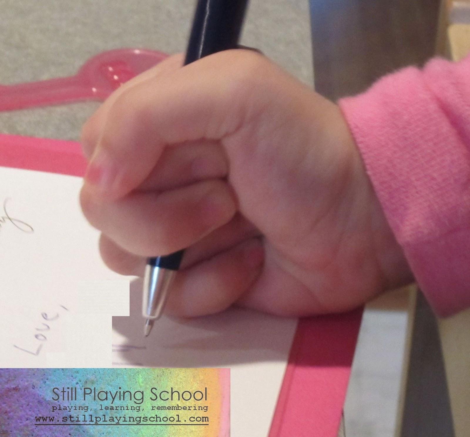 Fist grip pencil