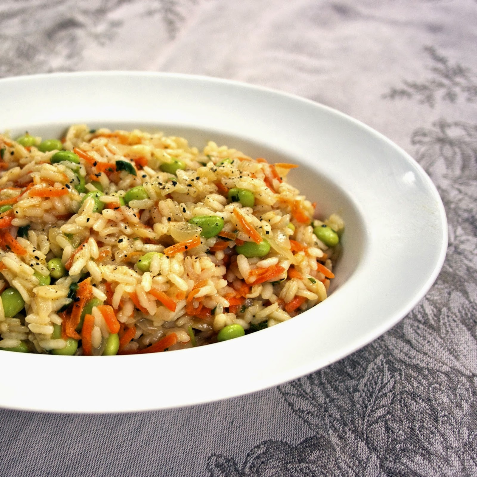 Vegetable Risotto- Baby Carrot & Fava Bean- simplelivingeating.com