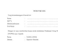 Terbaru Download Surat Kuasa Pengisian PUPNS 2015