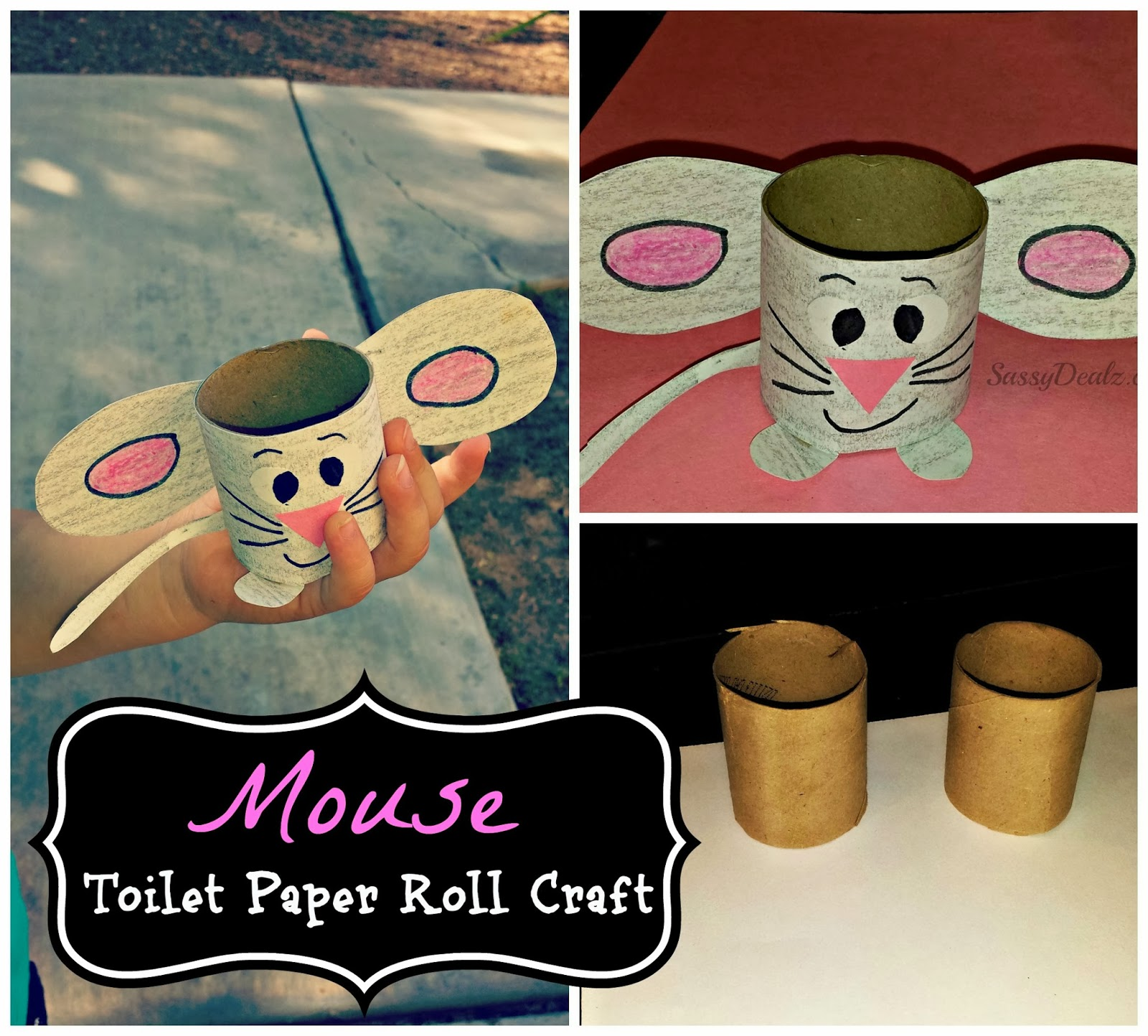 easy mouse toilet paper roll craft for kids crafty morning