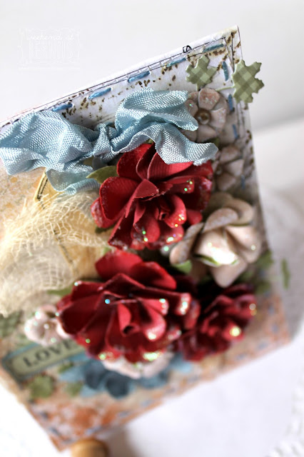 """love' card by Bernii Miller for Couture Creations using the Floral layers collection."