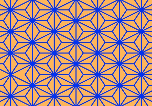 asanoha. asa-no-ha, patterns, geometric pattern, how to draw pattern, pattern design, complementary colors, patterns, contemporary patterns