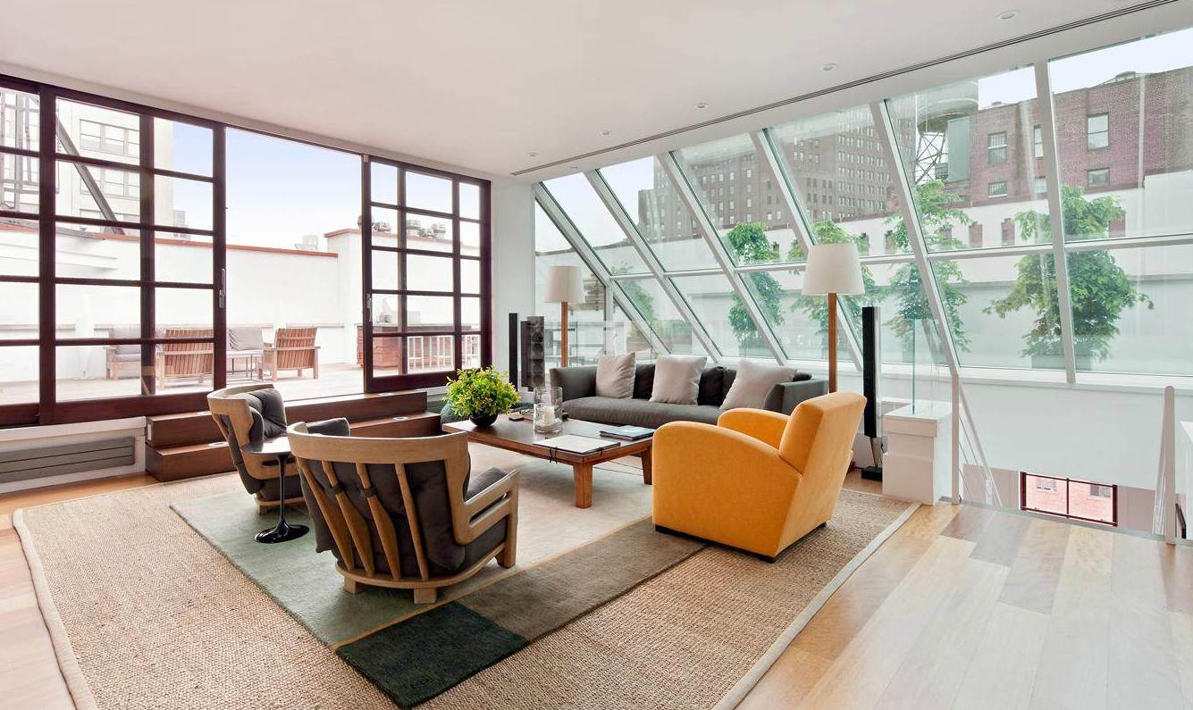 House of brady new york city penthouse for Large skylights