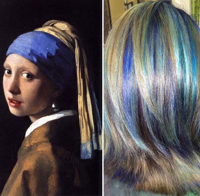 warna rambut seperti karya seni lukis terkenal