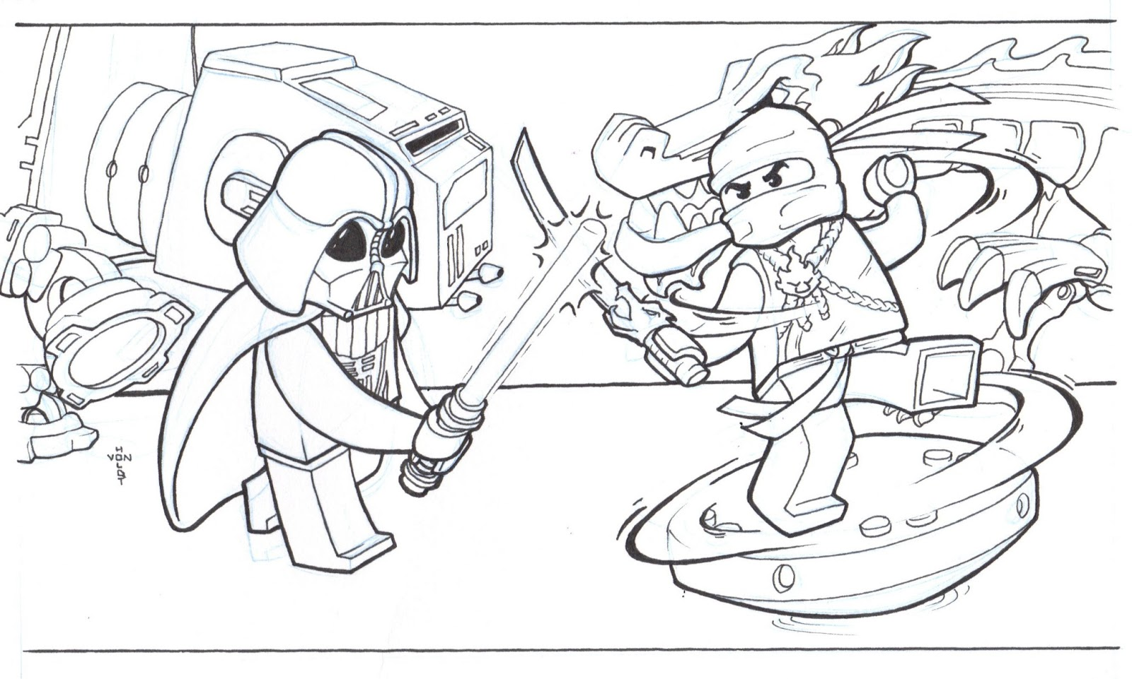 lego ninja turtles coloring pages