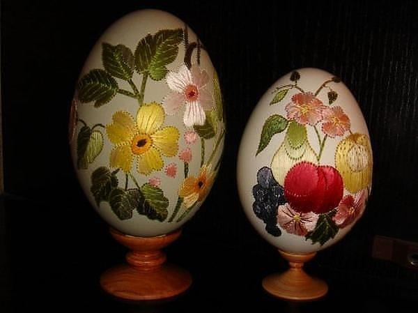 Embroidered Easter Eggs