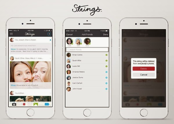 Strings messaging app for iPhone allows users to delete sent texts