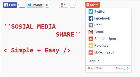 Sosial Media Share