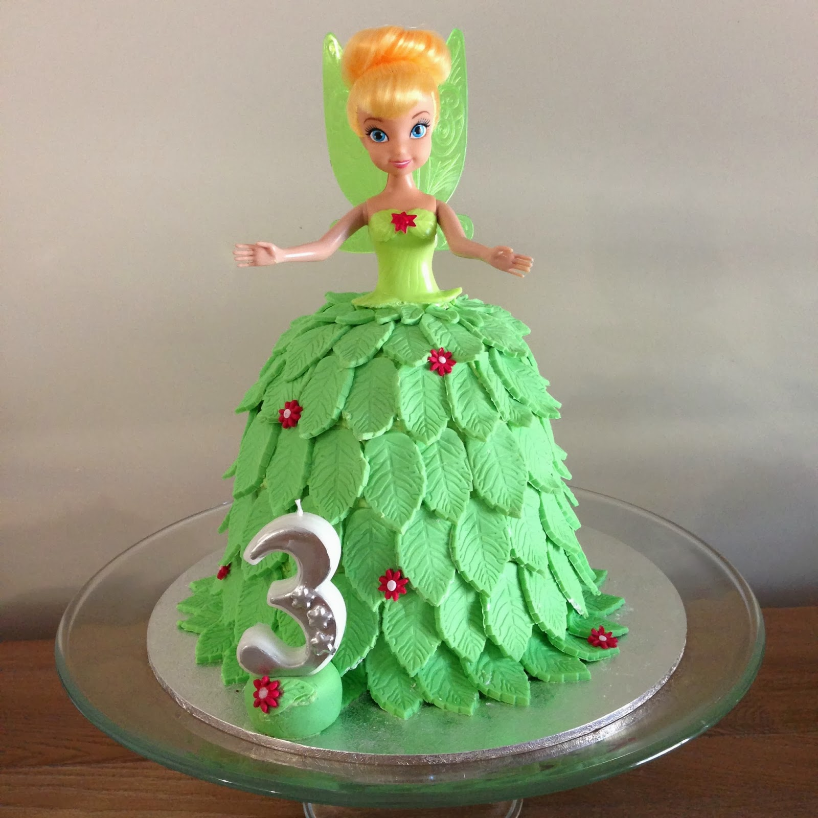 Make Tinkerbell Doll Cake