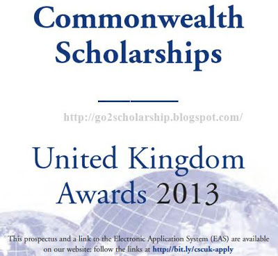 Commonwealth Scholarships United Kingdom Awards 2013