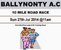 Sun 27th July...10m race in Tipp for €10