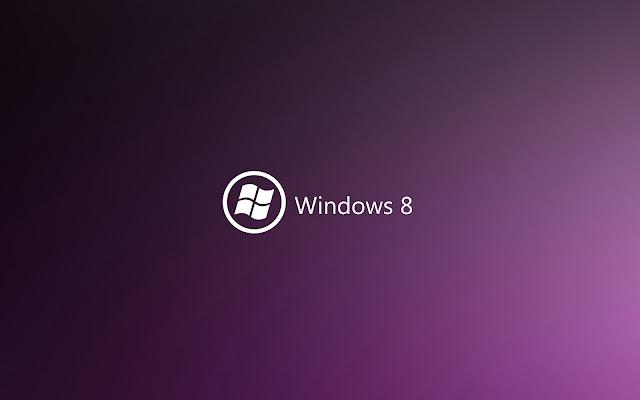 Paarse Windows 8 achtergrond met witte tekst