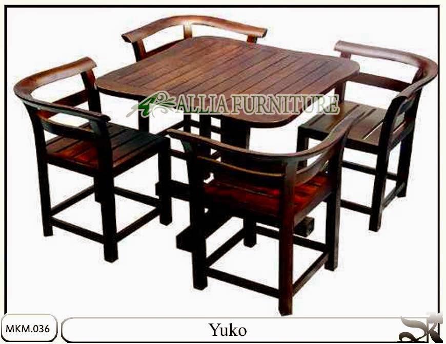 Set meja makan minimalis dan kursi Yuko