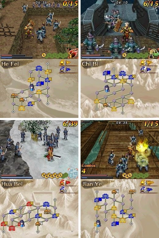 Dynasty Warriors DS: Battle Fighter game nds download free descargar gratis