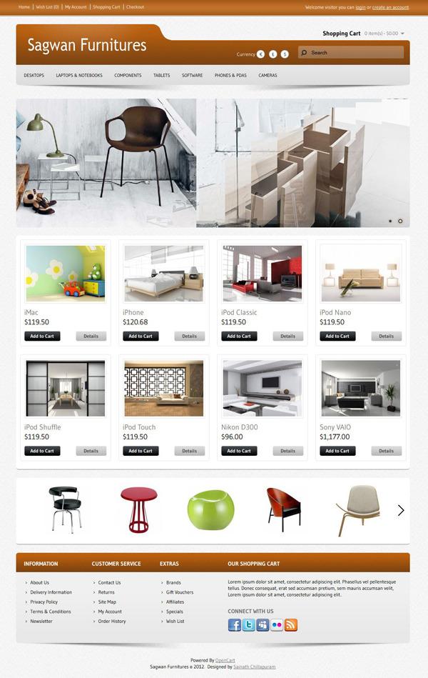 Sagwan-Furniture's-Free-Opencart-Premium-Template