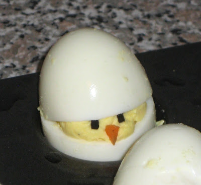 Easter Deviled Egg Chicks - Close-Up of Chick 3
