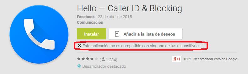 Nuevo gestor de llamadas de Facebook, por ahora solo disponible para Android, pero no en todos los países.