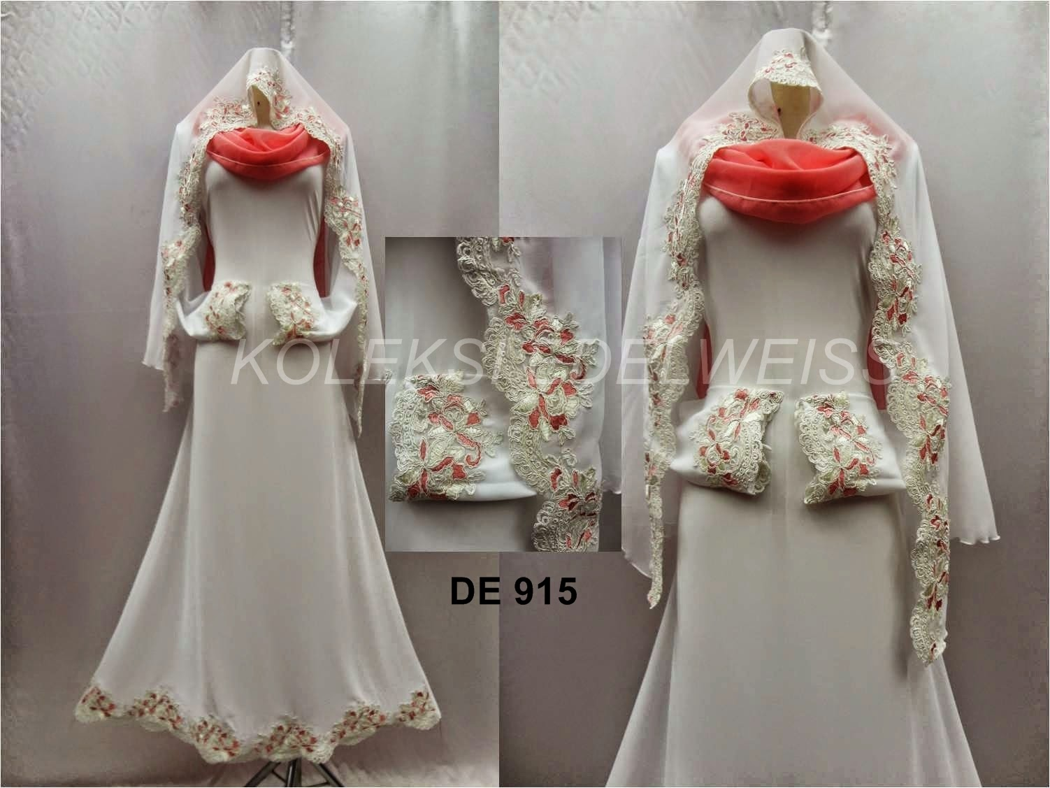 Dress Nikah Putih Hingga Saiz 50