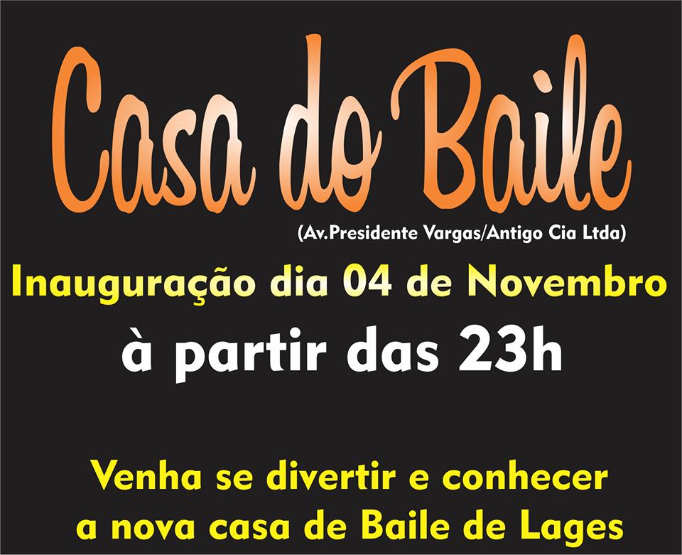 CASA DO BAILE - DIA 11/11