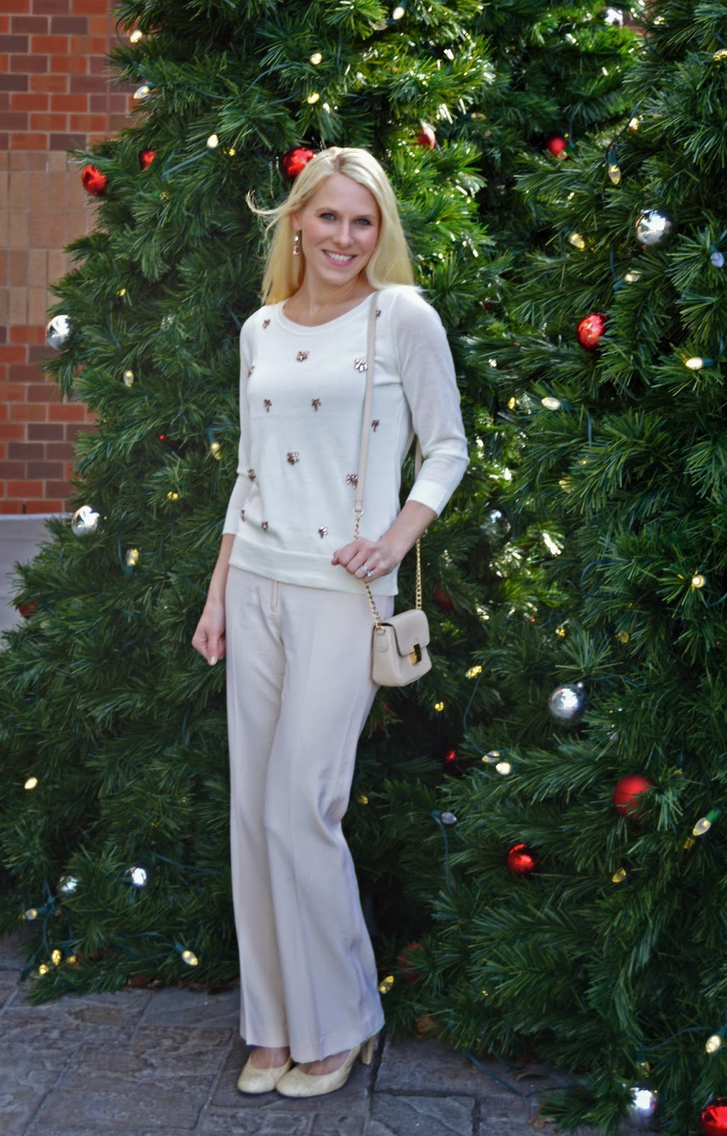 What I Wore: Winter White and Jewels!