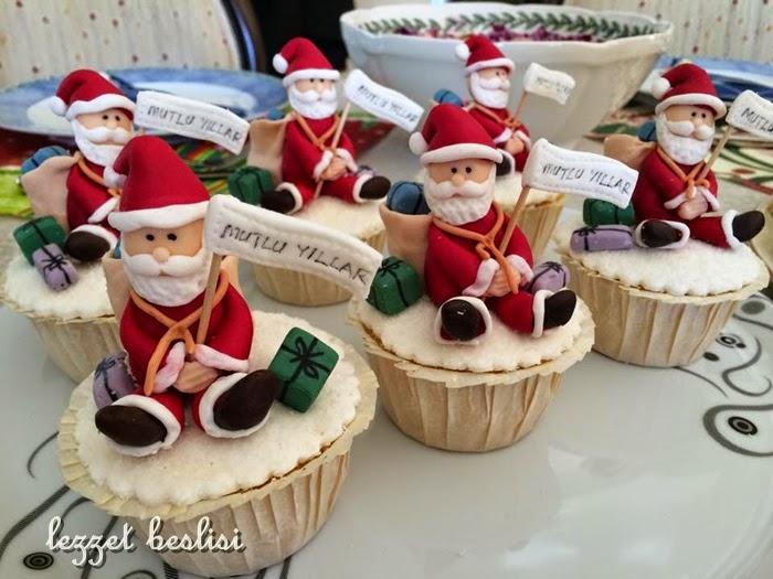 noel babalı cupcake