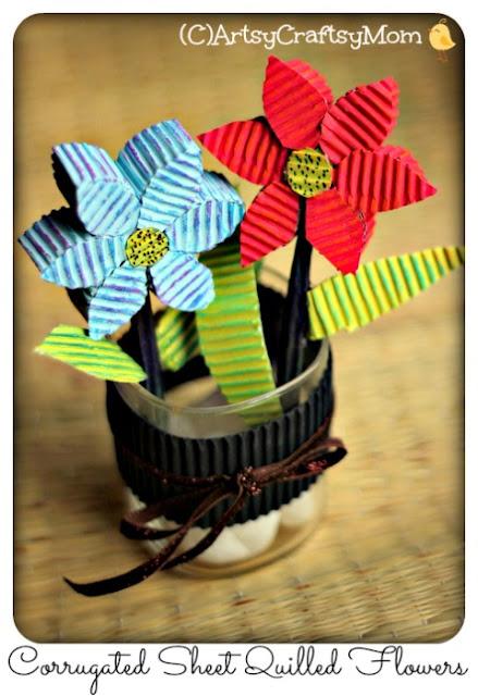 3D Corrugated sheet flower