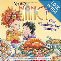 http://www.amazon.com/Fancy-Nancy-Our-Thanksgiving-Banquet/dp/0061235989/ref=sr_1_1?s=books&ie=UTF8&qid=1383999268&sr=1-1&keywords=fancy+nancy+our+thanksgiving+banquet