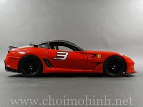 Xe mô hình tĩnh Ferrari 599XX hiệu Hot Wheels tỉ lệ 1:18