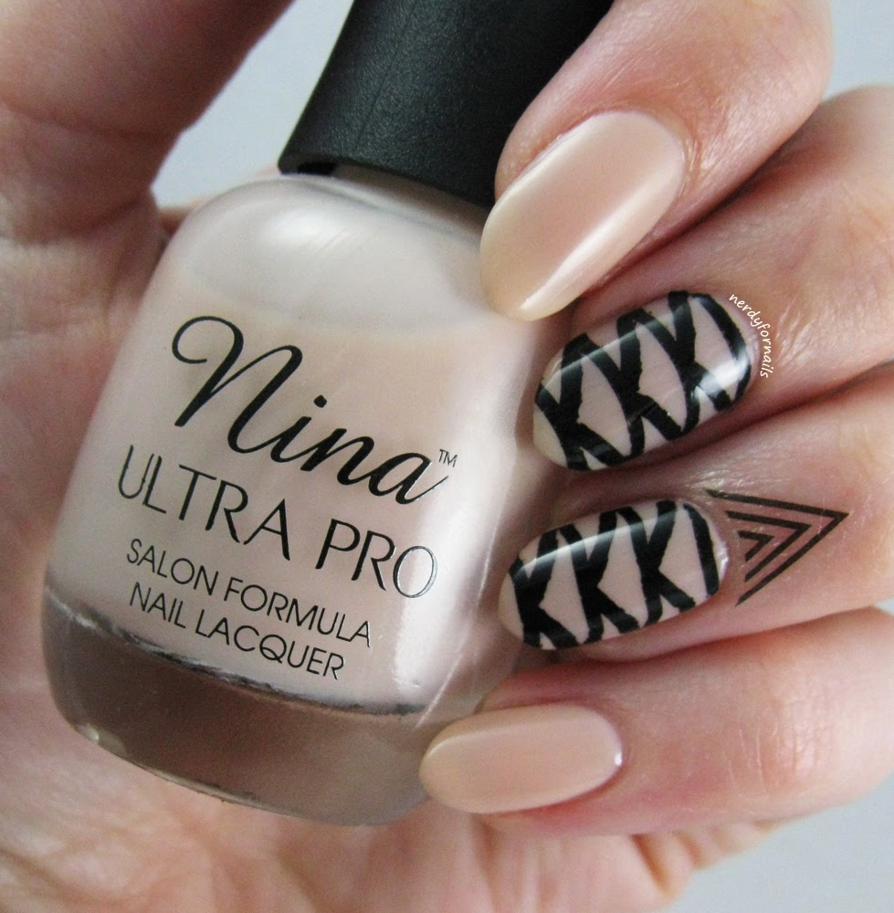 Nina Ultra Pro French Pink with Bundle Monster Stamping and Cuticle Tattoo