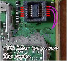 NOKIA 1208 LCD DISPLAY BLUE SOLUTION