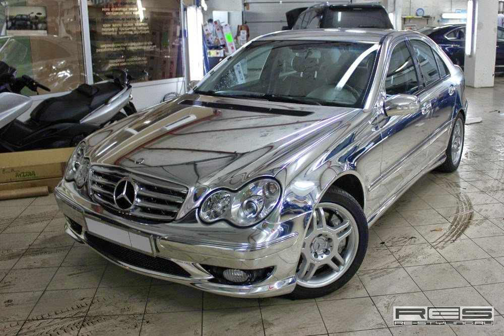 mercedes benz w203 chrome chrime wrap benztuning. Black Bedroom Furniture Sets. Home Design Ideas