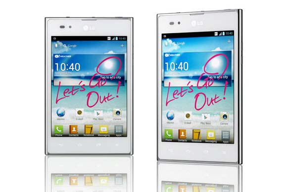 lg optimus vu white color