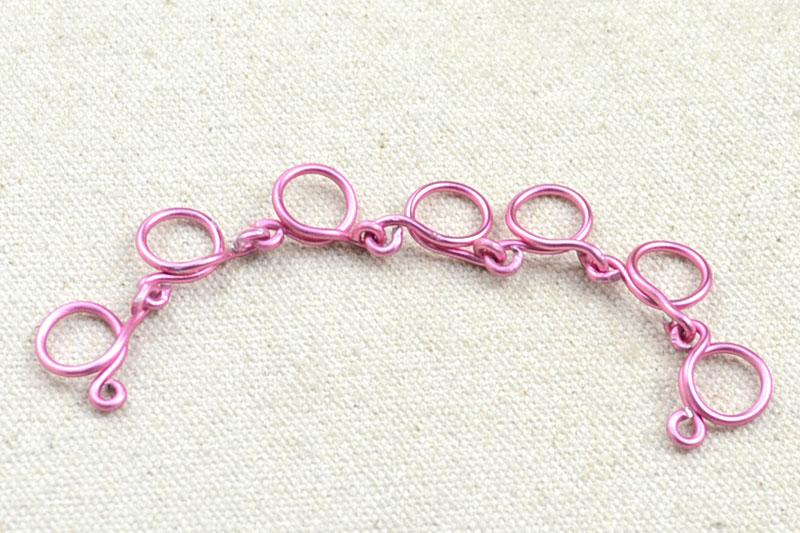 Схема плетения цепочки из проволоки своими руками 6