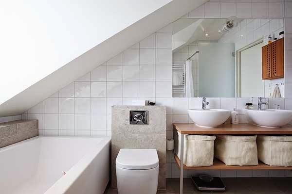 Vasca Da Bagno Bassa : Il bagno in mansarda chi ha detto che non può essere di design e