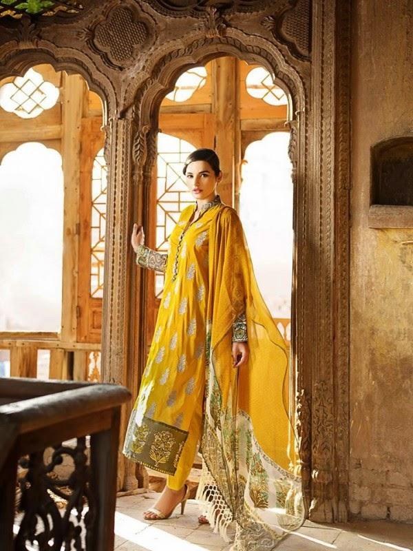 New Khaadi Spring Formal Wear Dresses 2015 4