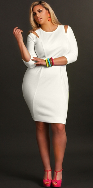 Stylish Little White Dresses For Plus Sizes Stylish Curves