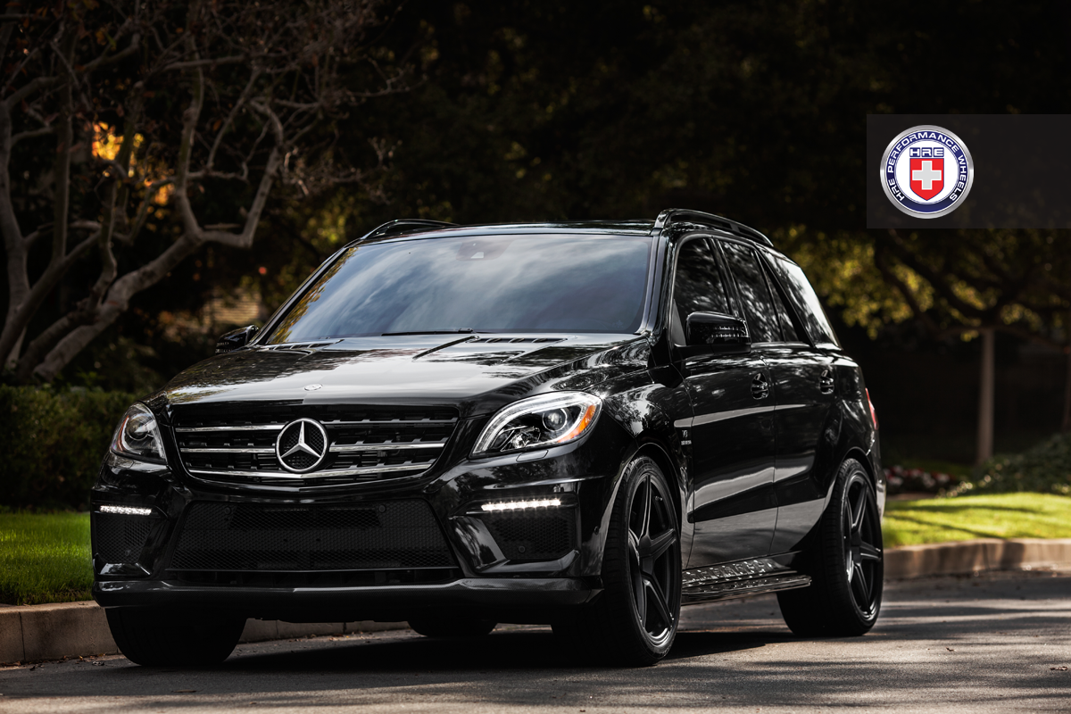 Mercedes benz ml63 amg shadowline on hre performance for Mercedes benz amg ml63