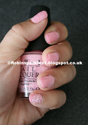 candy floss pink friday opi salt nail art design