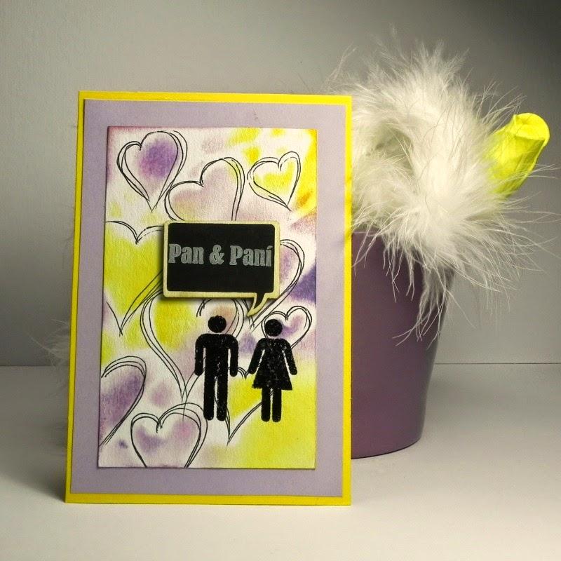 Svatební přání vyrobené technikou cardmaking.