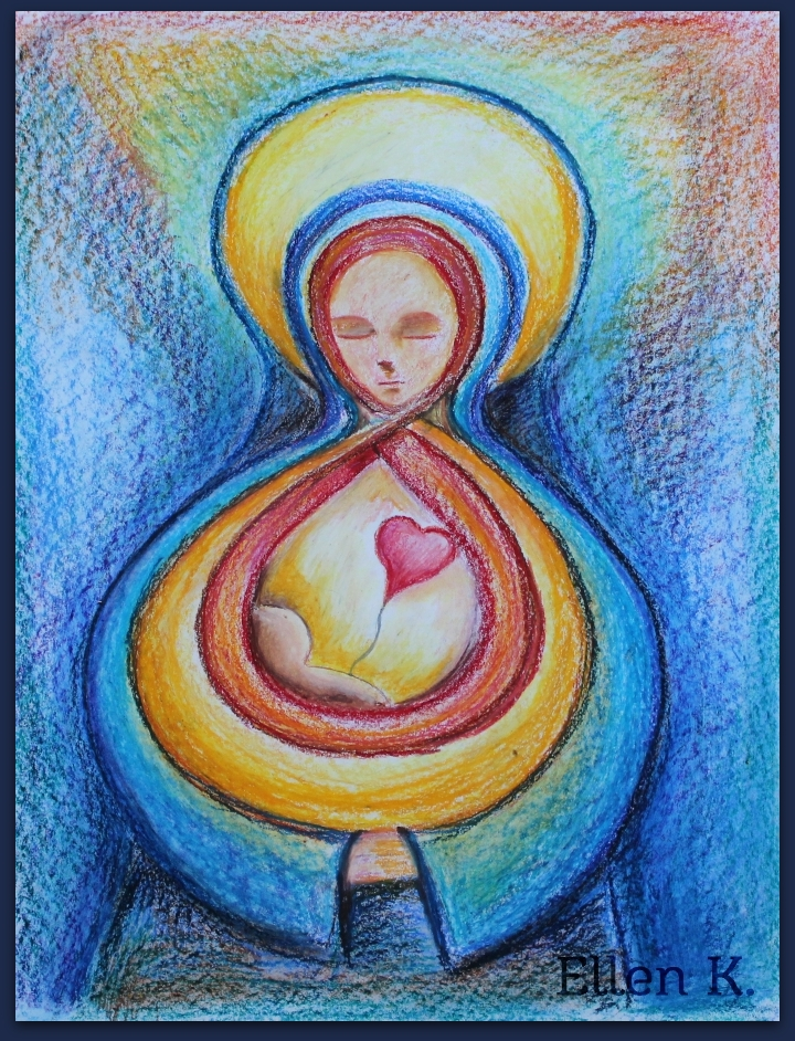 Greyladys Hearth Oil Pastel Drawing Everlasting Love